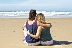 Couple in love at the beach Stock Photography