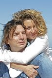 Couple in love at the beach Royalty Free Stock Photo