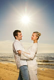 Couple in love on the beach Royalty Free Stock Photo
