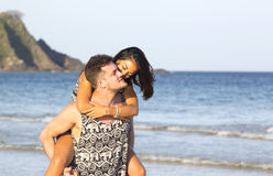 Couple in love on the beach Royalty Free Stock Images