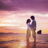 Couple Love Beach Romance Togetherness Concept Stock Photography