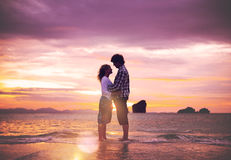 Couple Love Beach Romance Togetherness Concept Royalty Free Stock Image
