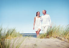 Couple Love Beach Romance Togetherness Concept Royalty Free Stock Photo