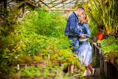 Couple, love, botanical garden Royalty Free Stock Photography