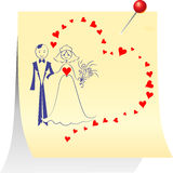 Couple in love: the bride and groom Royalty Free Stock Photo