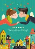 Couple in love celebrating Valentines Day Stock Image