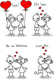 Couple in love, a child's drawing vector Stock Photo
