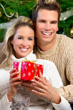 Couple in love. Christmas Royalty Free Stock Images