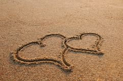 Couple Love concept. In a sand Stock Photo