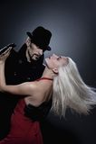 Couple in love dancing tango Royalty Free Stock Photography