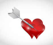 Couple in love. dart concept illustration design Royalty Free Stock Image