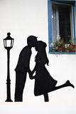 Couple in love. Decoration on the wall Stock Images