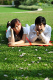 Couple in Love in despair. Couple in a park in various activities Stock Images