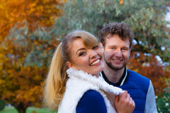 Couple in love enjoy romantic date Royalty Free Stock Image