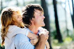 Couple in love enjoying each others affection Royalty Free Stock Photos