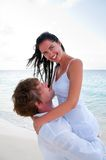 Couple in love enjoying a summer holiday. Royalty Free Stock Photography