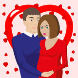Couple in love expecting a baby Royalty Free Stock Images