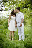 Couple in love. Full length portrate of Young couple in love Stock Photo