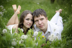 Couple in love. Full length portrate of Young couple in love Royalty Free Stock Photo