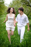 Couple in love. Full length portrate of Young couple in love Stock Images
