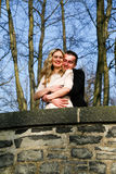 Couple in love in the garden royalty free stock photography