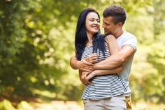 Couple in love. Happy Couple in Summer Park Stock Photos