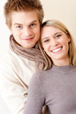 Couple in love - happy relax at home together Royalty Free Stock Image