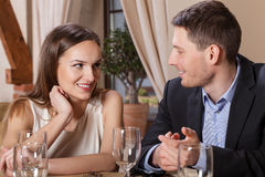 Couple in love having dinner Royalty Free Stock Photo