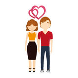 Couple in love hearts affection Royalty Free Stock Photos