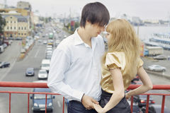 Couple in love holding hands Stock Image
