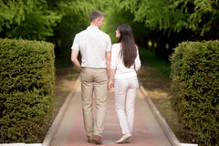 Couple in love holding hands Royalty Free Stock Image
