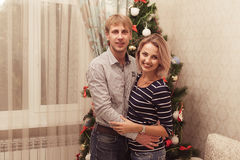 Couple in love at holiday Royalty Free Stock Image