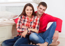Couple in love at home Stock Photography