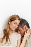 Couple in love hugging Royalty Free Stock Photo