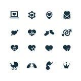 Couple, love icons set Stock Image