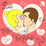 Couple in love kiss Royalty Free Stock Photo