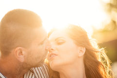 Couple in love - kiss Royalty Free Stock Photo