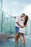 Couple in love kissing Stock Images