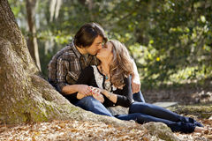 Couple in love kissing Stock Photography