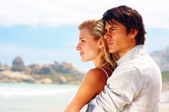 Couple in love looking away Royalty Free Stock Images