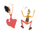 Couple in love. Lovers dancing Royalty Free Stock Photography