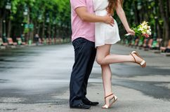 Couple in love. Loving couple on a walk Royalty Free Stock Image