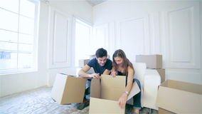 Couple in love moving stock footage