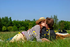 Couple love nature Royalty Free Stock Images