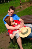 Couple love nature. Young handsome couple, man and woman in love, nature setting royalty free stock image