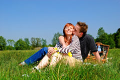 Couple love nature Royalty Free Stock Image