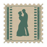 Couple in love. On the old background Royalty Free Stock Images