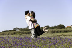 Couple love in outdoor Royalty Free Stock Photo