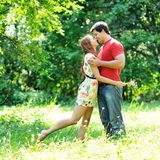 Couple in love outdoor Stock Photography