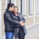 Couple in love - outdoor portrait Royalty Free Stock Image